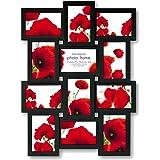 Zep Extra Large Multi Aperture Photo Frame for 12 6 x 4 Photos, Black