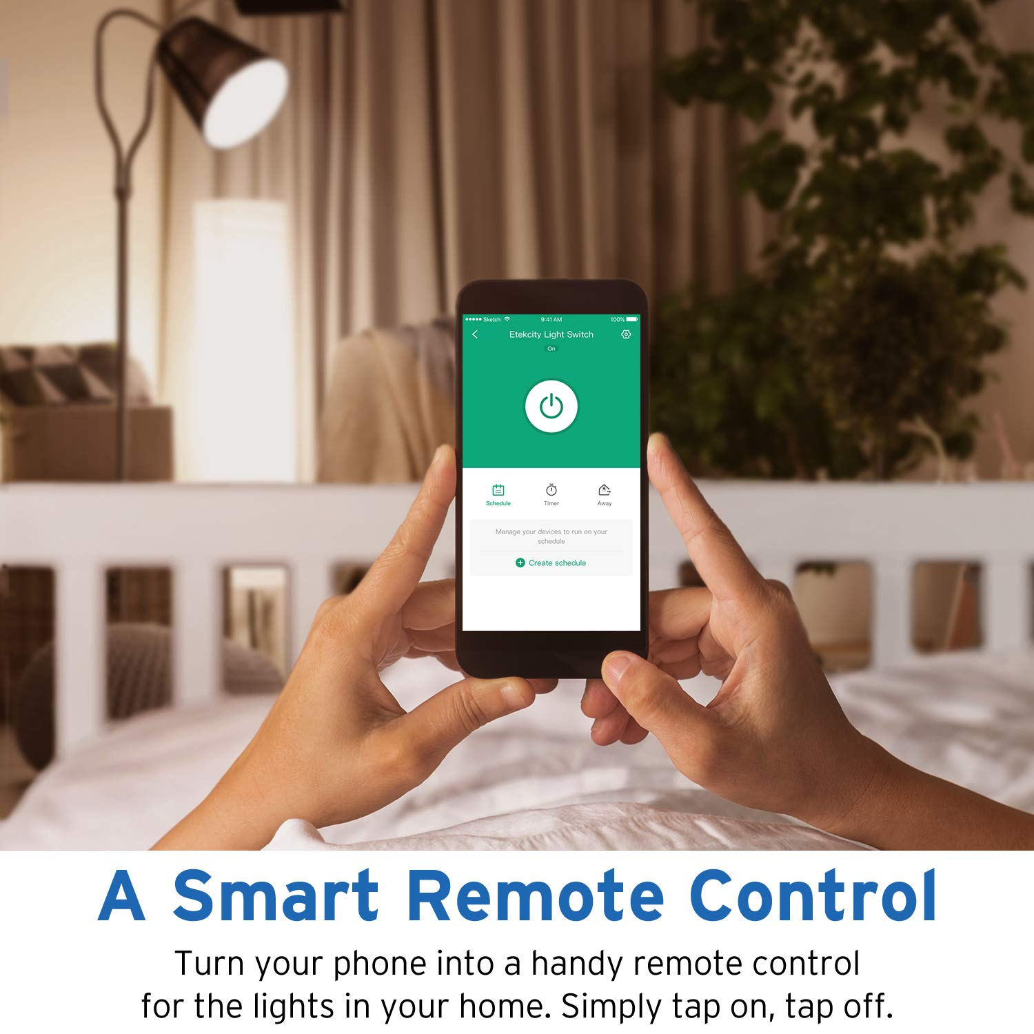 Etekcity Smart WiFi Light Switch, Wireless Remote Control from Anywhere, Schedule Your Home, No Hub Required, Works with Alexa and Google Home, Single Pole Only, White, 15A/1800W, ETL Listed by Etekcity (Image #4)