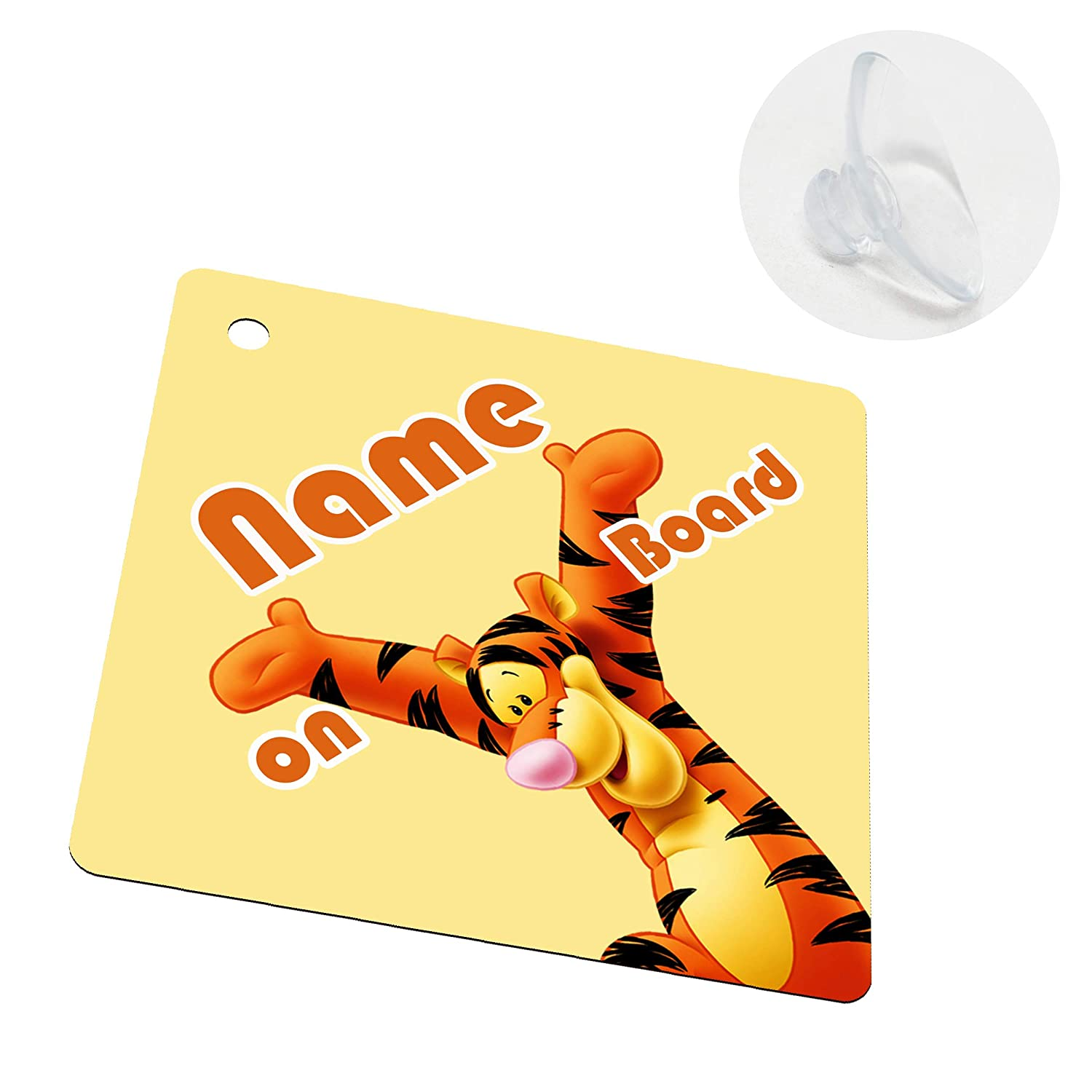 Baby on Board Kids Sign for Boys and Girls Single Sided with Suction Cup I-CHOOSE LIMITED Personalised Your Baby Name Car Windows Sign Sticker