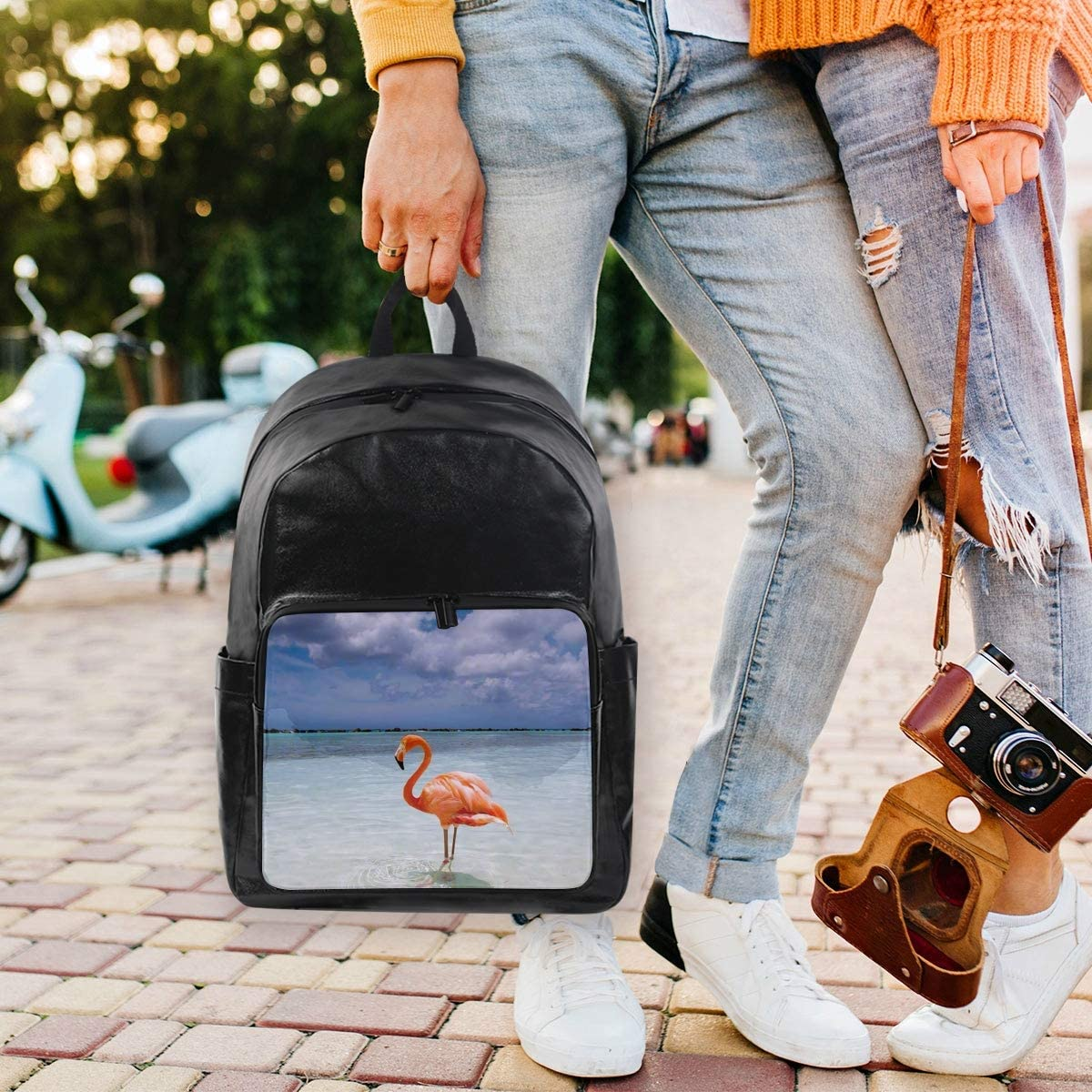 Student Backpacks College School Book Bag Travel Hiking Camping Daypack for boy for Girl Flamingo 12.5x9x17.5 Holds 12.5-inch Laptop