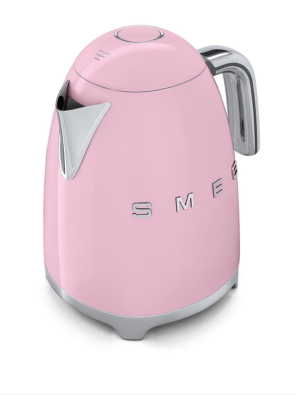 Smeg KLF01 Calentador de Agua Eléctrico, Hervidor 2400 W, 1.7 litros, Acero Inoxidable, Rosa Pastel: Amazon.es: Hogar