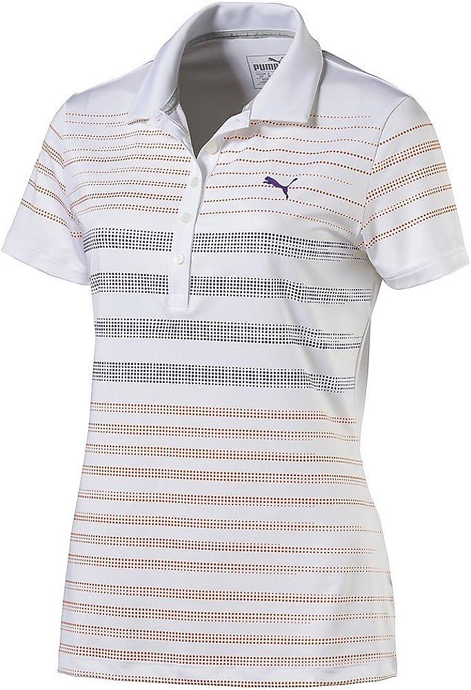 PUMA Polo de Rayas Golf W Dot para Mujer, Mujer, Color Golden ...
