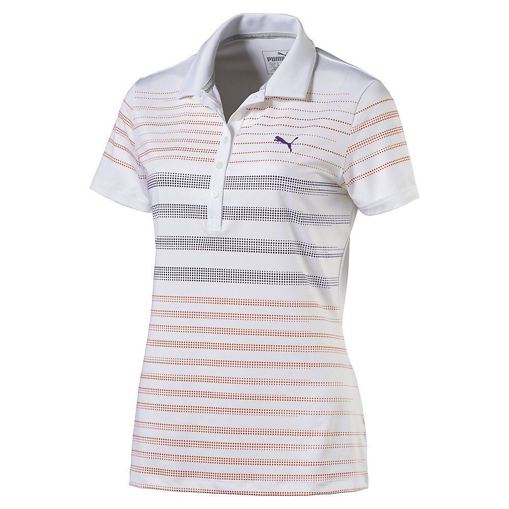 PUMA Polo de Rayas Golf W Dot para Mujer, Mujer, Color Golden ...