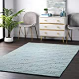 nuLOOM Wilhelmina Hand Tufted Wool Area Rug, 5' x 8', Moss