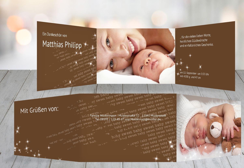Kartenparadies Danksagung für Geburt Baby Dankeskarte Star, hochwertige Danksagungskarte Baby inklusive Umschläge   10 Karten - (Format  148x105 mm) Farbe  RosaRosa B01N6WWA3Z | Gutes Design  | Hohe Qualität und geringer Aufwand  | Neuankömmli