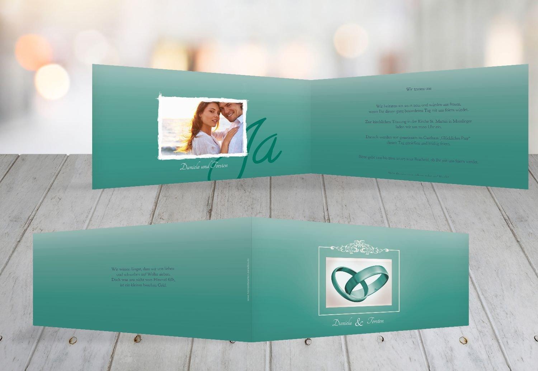 Kartenparadies Hochzeitskarte Hochzeit Einladung Din Ringetausch, hochwertige Einladung zur Heirat inklusive Umschläge   10 Karten - (Format  215x105 mm) Farbe  flamingoOrangerot B01N24JK8T | Umweltfreundlich  | Hohe Qualität  | Berühmter Laden