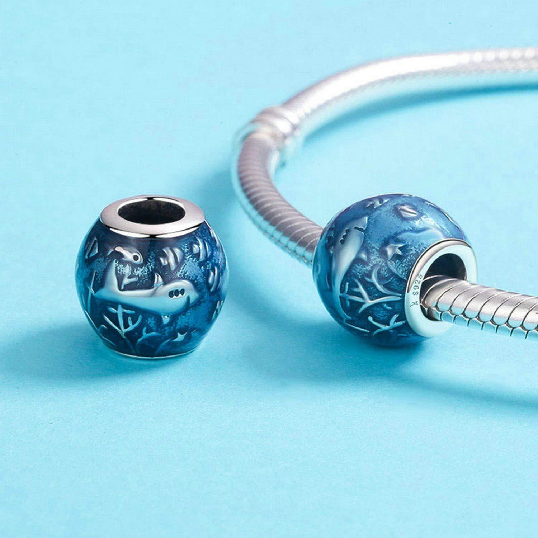 EverReena Wonderful Ocean Underwater World Shark Fish Silver Beads Bracelets