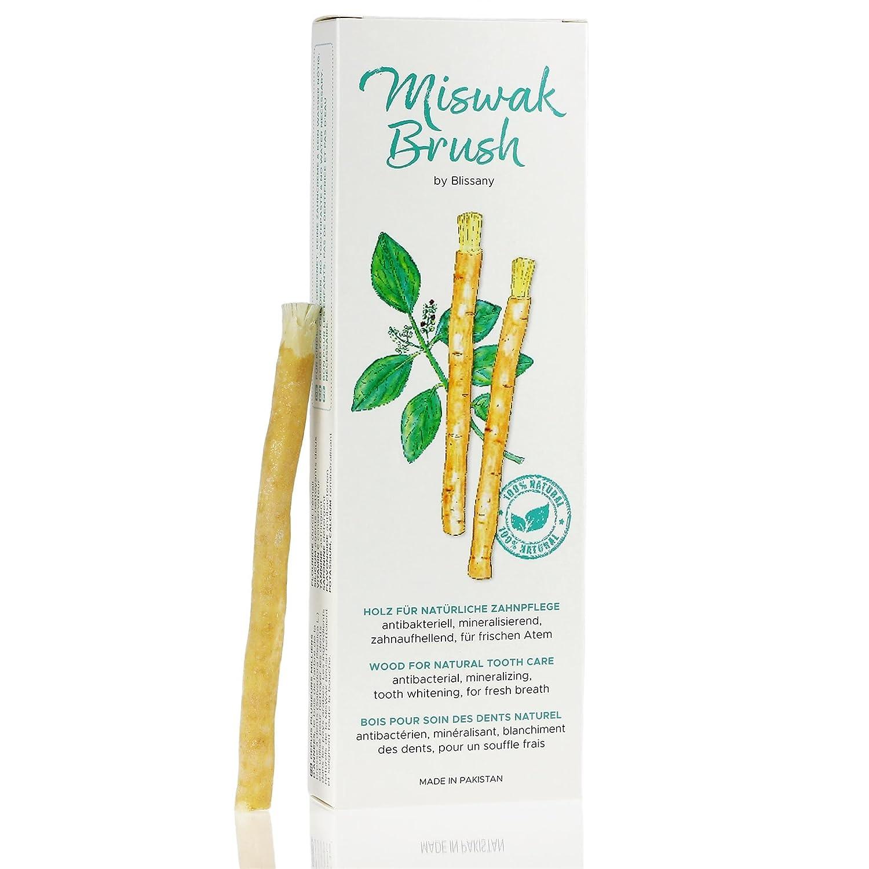 Cepillo de dientes Miswak por blissany- cepillo de dientes tradicional árabe, cepillo de dientes de madera, para dientes blancos naturales, 5pcs: Amazon.es: ...