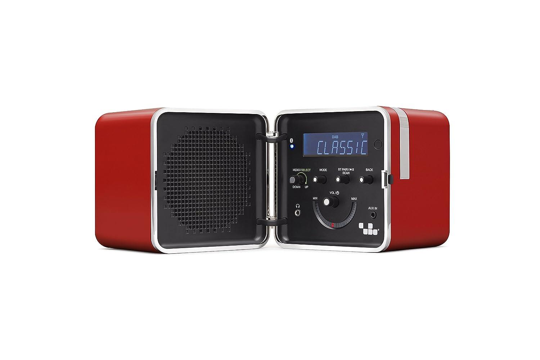 Brionvega ts522d + S-R Radio FM/Dab Bluetooth, Rojo, 22x 13x 13cm