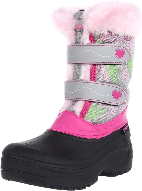 Skechers Lil Frost 88579L GYPK Botas para niña, Color Gris