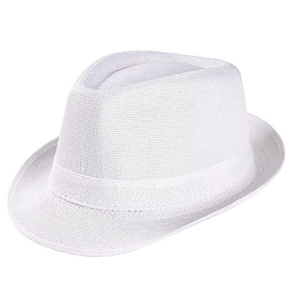 7be7431918ed Sunonip Sombrero De Verano para Hombre Unisex Trilby Cap Beach Sun ...