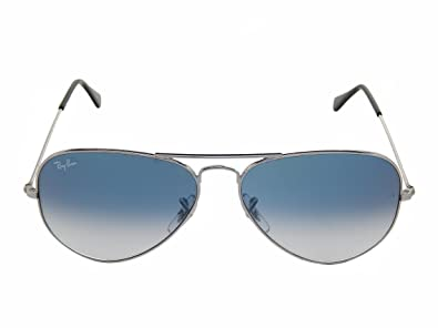 cb373312468 Image Unavailable. Image not available for. Color  Ray Ban RB3025 003 3F  Silver Crystal Gradient light Blue 62mm Sunglasses