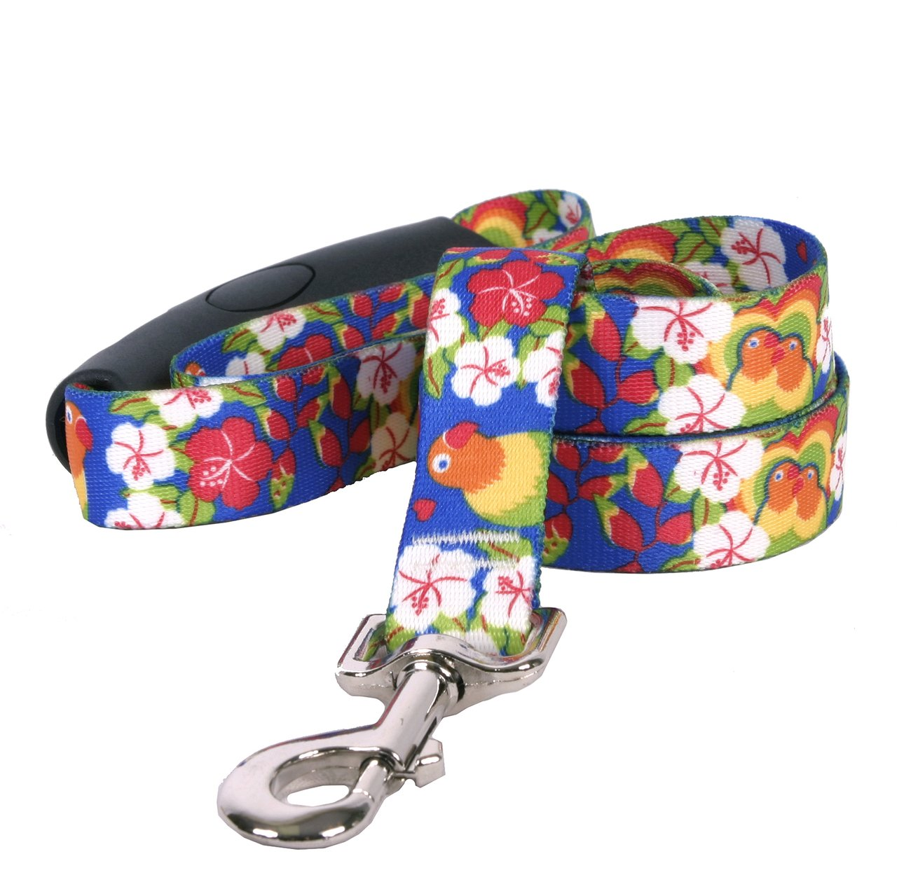 Yellow Dog Design Lovebirds Ez-Grip Dog Leash with Comfort Handle 3/4'' Wide and 5' (60'') Long, Small/Medium