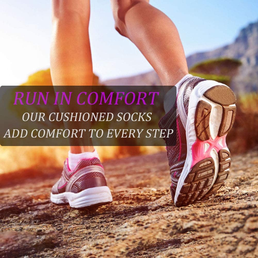 Copper Compression Socks for Men /& Women 6Pairs 8-15 mmhg Athletic Plantar Fasciitis Low Cut Running Socks