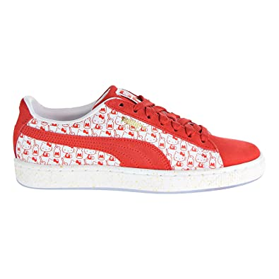 4a933839dc8 PUMA Suede Classic X Hello Kitty Womens Red Suede Sneakers Shoes (7.5 M US,
