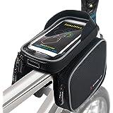 Fahrradtasche Fahrrad Rahmentasche Oberrohrtasche Handy Tasche Wasserdicht Sensitive Touch-Screen