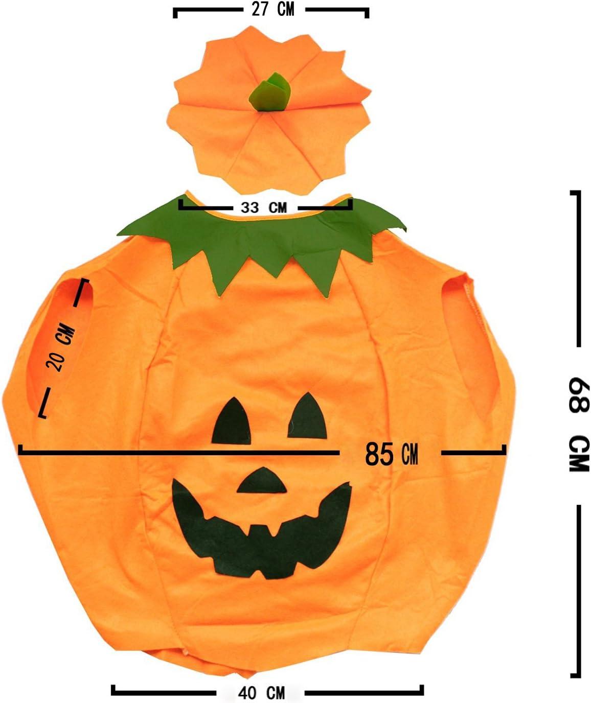 SYMTOP Halloween Disfraz Traje de Calabaza para Adulto para ...