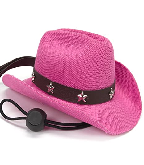 Amazon.com   Puppe Love Dog Cowboy Hat - Pink a9ed5bf3572