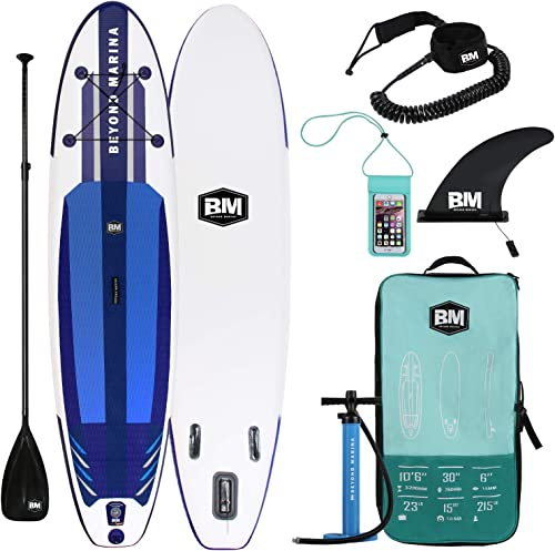 Beyond Marina Ultra-Light Inflatable Stand Up Paddle Board 10 6 Long 6 Thick SUP Paddle Board W Premium Carbon Paddle