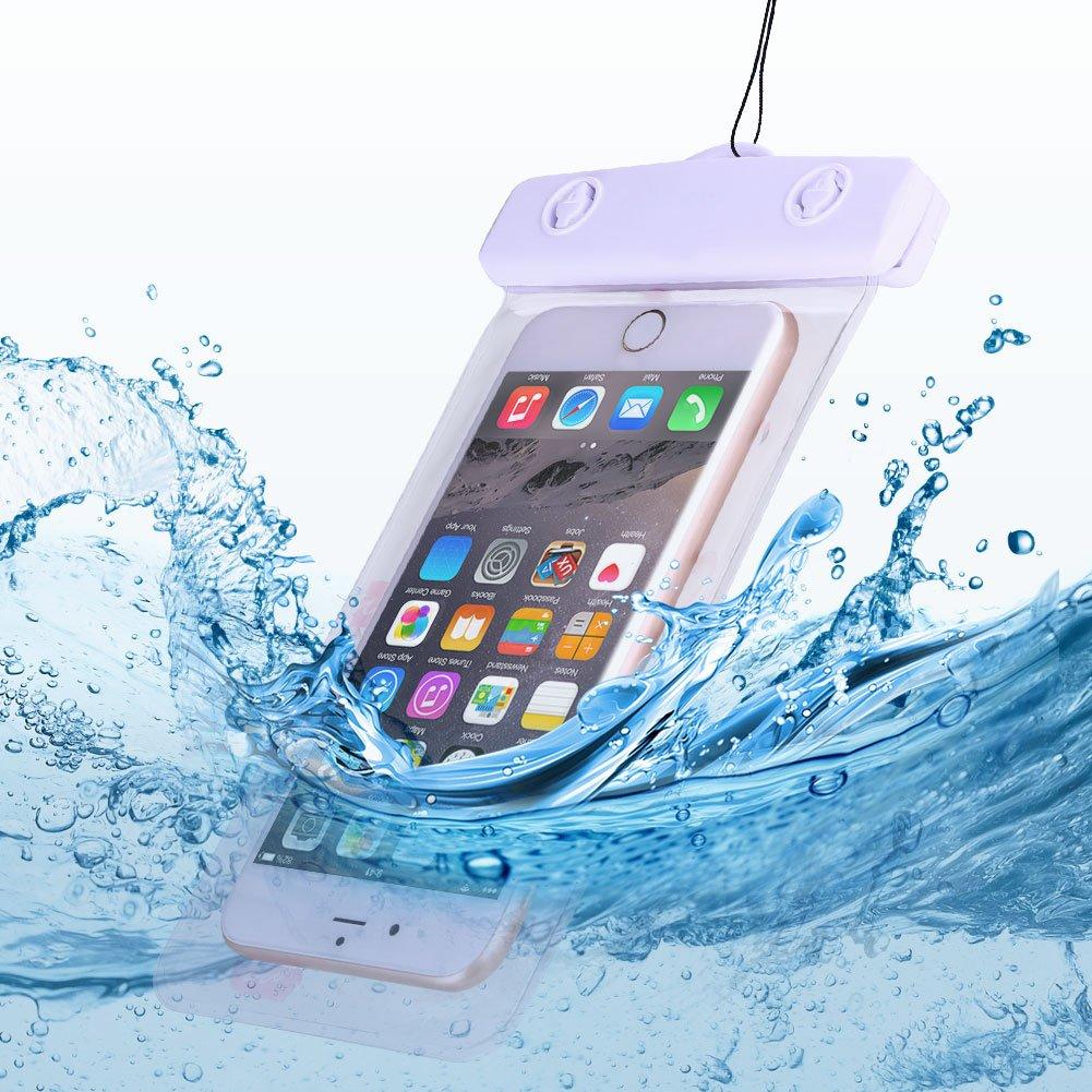 Anfire Funda Impermeable Bolsa para Teléfono Estanca Sumergible Bolsa Transparente Móvile para [6.0 Pulgadas] IPX8 Prueba Agua para iPhone 5/6/6S/7 ...