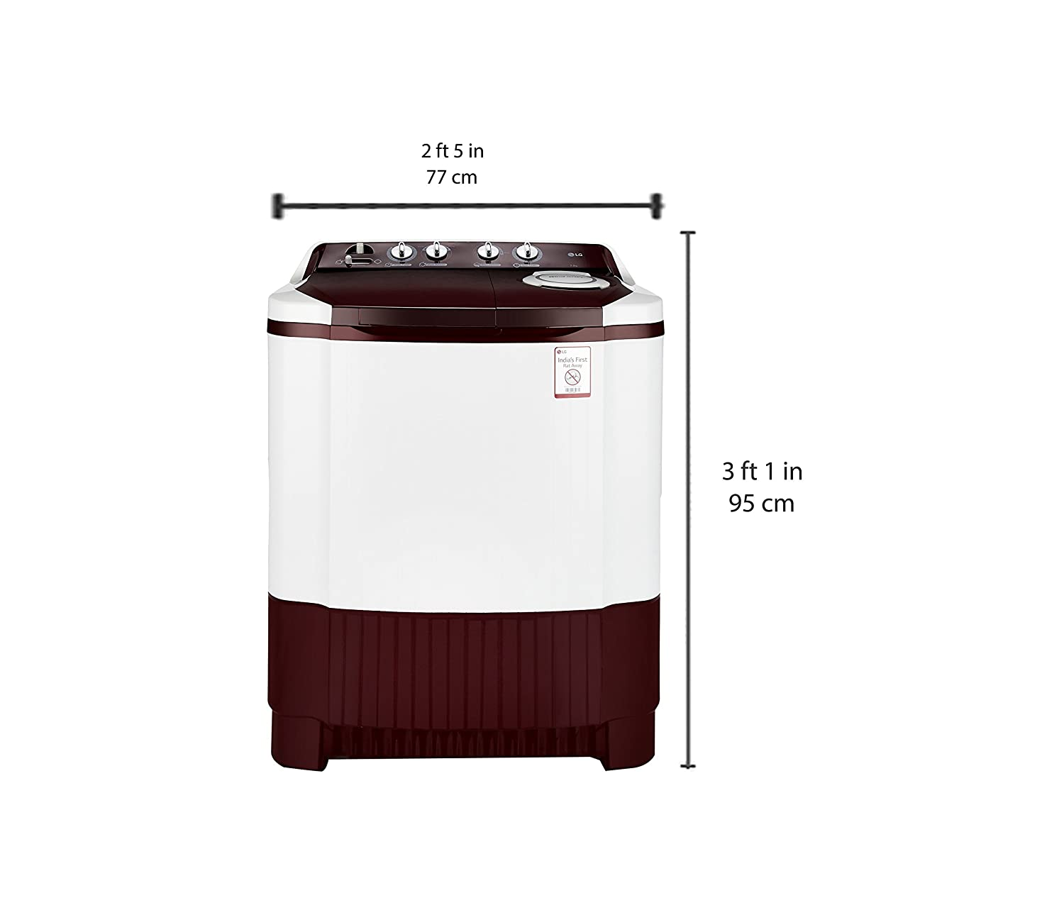 Lg 68 Kg Semi Automatic Top Loading Washing Machine P7853r3sa Kenstar Wiring Diagram Burgundy Home Kitchen