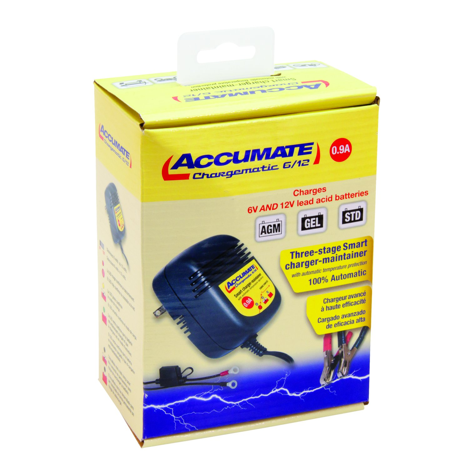 Accumate 6 12 12a Tm 08 4 Step 6v 12v Chargematic Car Battery Charger Maintainer 750ma Lead Acid Automotive