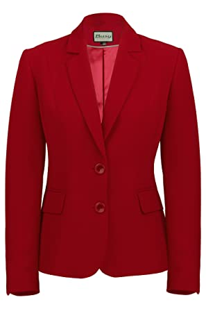 Busy Clothing Womens Burgundy Red Suit Jacket: Amazon.co.uk: Clothing