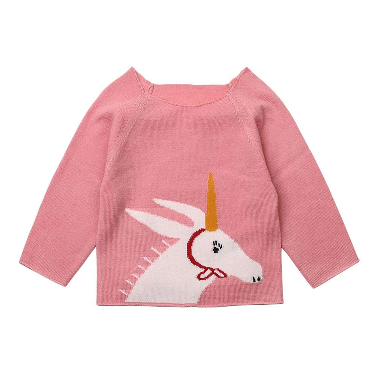 Gail Jonson Summer Outerwear Baby Girls Cardigan Sweaters Casual Long Sleeve Toddler Boys Pullovers Pink 5T