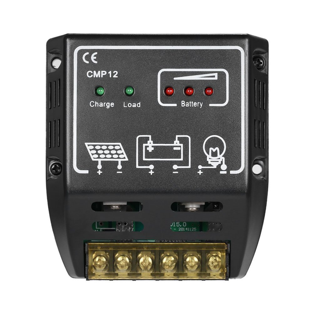 GXG-1987 CMP-12 20A 12V/24V Solar Charge Controller Solar Control Regulator Solar Panel Battery Regulator by GXG-1987