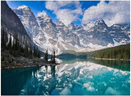 Wooden Jigsaw Puzzle Canadian Rockies