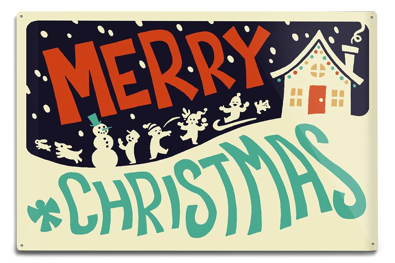 【正規品質保証】 Merry Coffee Christmas House – レトロクリスマス 12 x 18 12 Bag Metal Sign LANT-77395-12x18M B074S254XC 8oz Coffee Bag 8oz Coffee Bag, 目黒区:e0557151 --- 4x4.lt