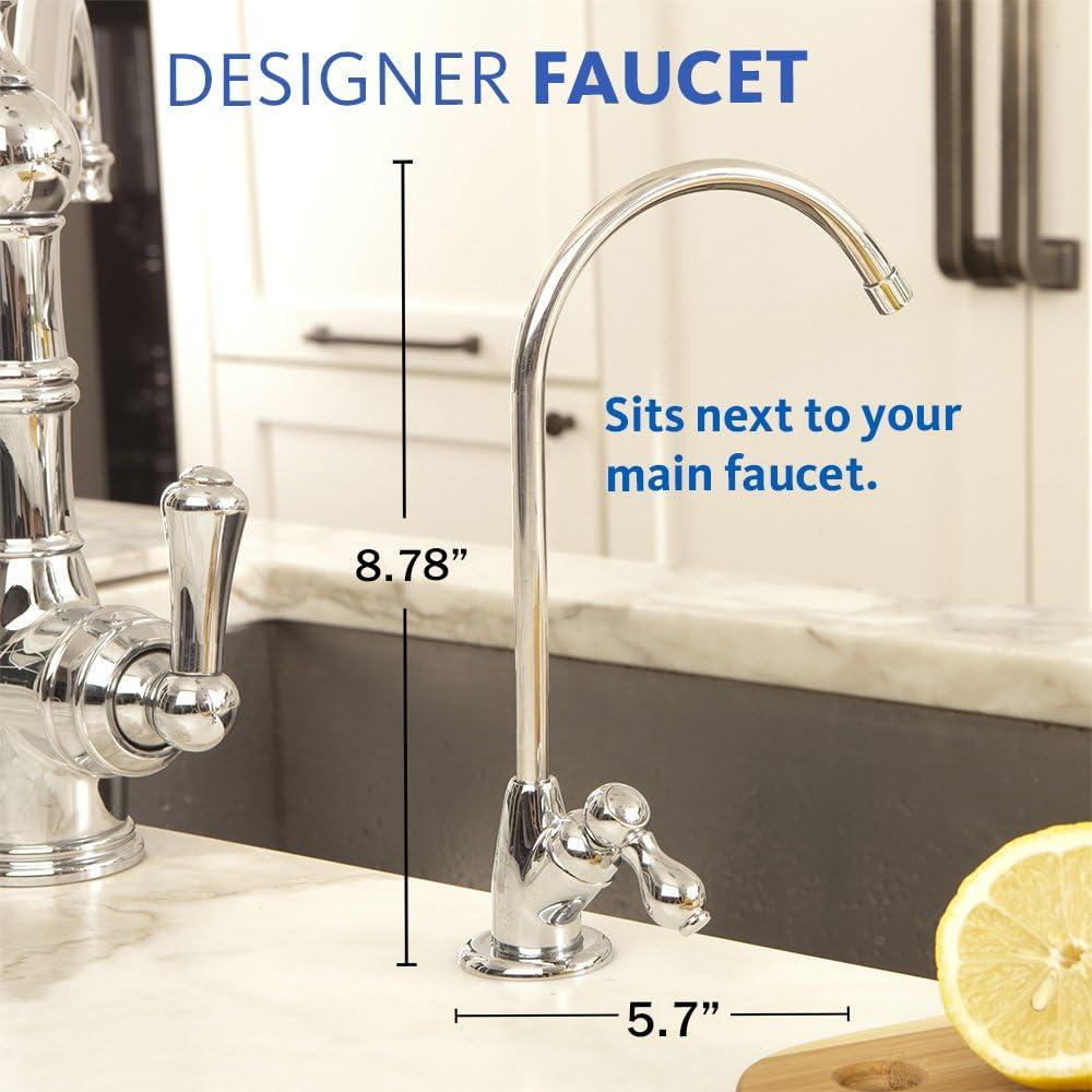 Aquasana AQ-5300 Plus Under Sink Water Filter faucet dimensions