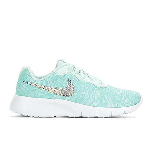 eae4a2b7d1dacc Amazon.com  Crystal Bedazzled Blue Swirl Little Girls  Nike Tanjun ...