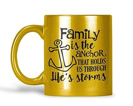 Amazoncom Family Quotes And Sayings Gold Mug Personalized
