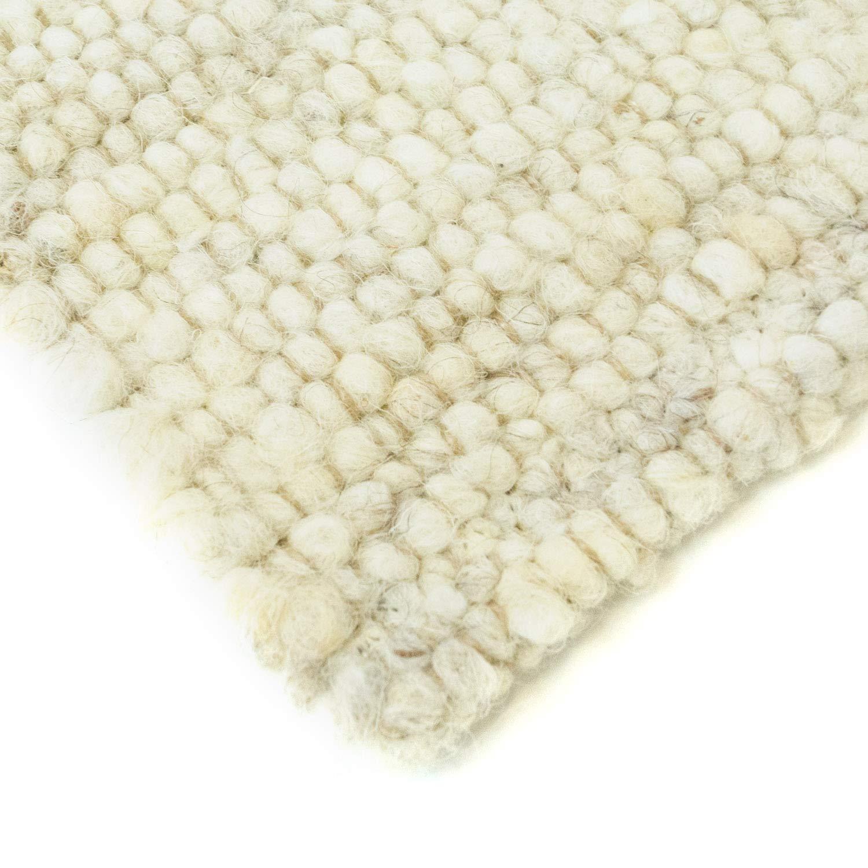 Hand-Web-Teppich     Reine Schur-Wolle im Skandinavischen Design  Für Wohnzimmer Esszimmer Schlafzimmer Flur Kinderzimmer   Grau Beige (Sand - 60 x 110 cm) B0778SCTWH Teppiche 03b45c