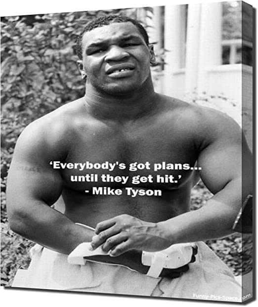 """LOOKS AWESOME FRAMED /""""IRON/"""" MIKE TYSON BEAUTIFUL POSTER PRINT WITH QUOTE"""