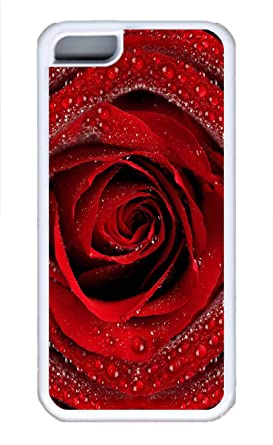 Hot funda de libro para iPhone 5 C – Rojo sexy rosas Lovely Botellas de leche