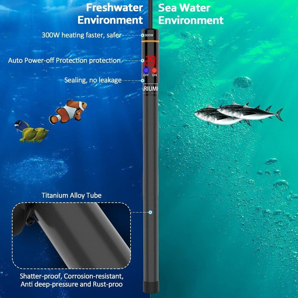 Wolfwill OTAN Calefacción de alto rendimiento para acuario, varilla de calefacción segura sin astillas para acuarios, calentador para tortugas o peces: ...