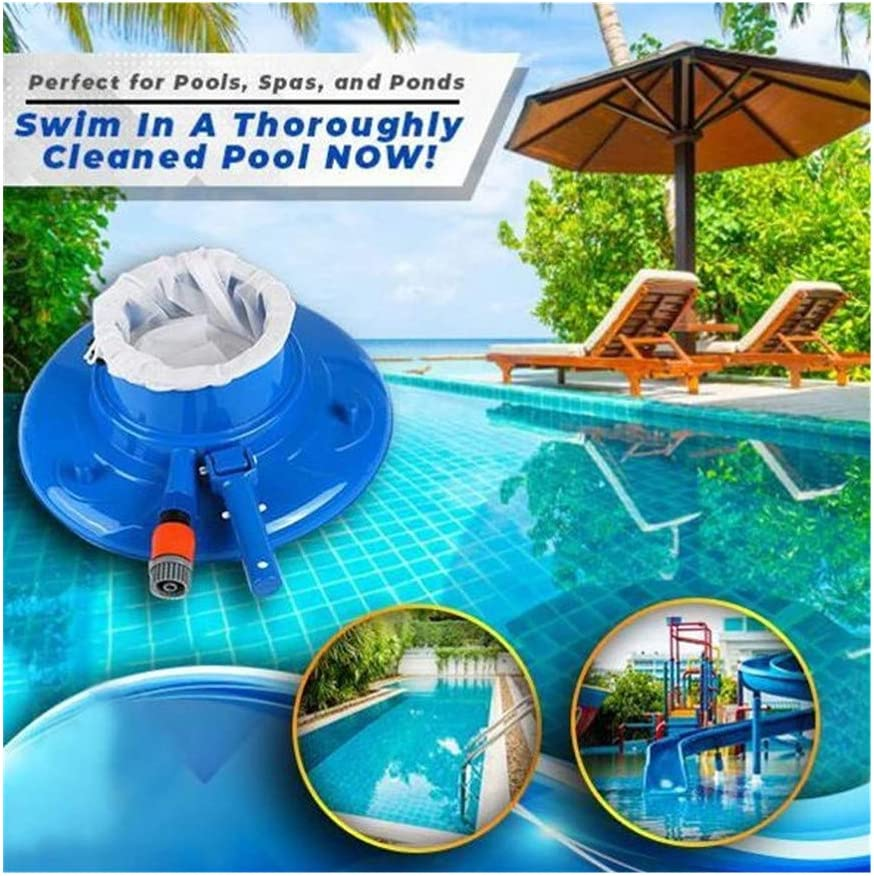 Swimming Pool Vacuum Cleaner, Pool Bottom Leaf Vacuum Cleaner to Clean Leaves & Other Debris, Portable Cleaning Tool for Cleaning Swimming Pool, Spa, Pond and Hot Tub (Blue)