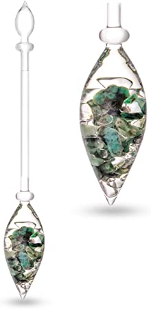 Enhances and Structures Drinking Water Beaming Red Jasper and Solid White Magnesite Clear Quartz VitaJuwel Fitness Vial
