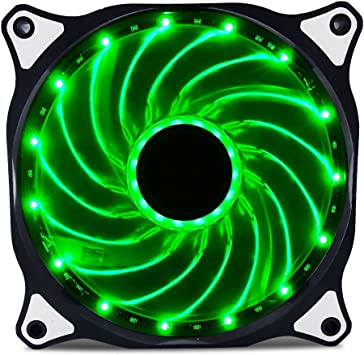 Game MAX 120mm 12CM 4 x LED Green Case Cooling Fan 3 4 Pin Computer cooler