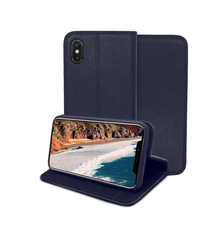in Obsidian Black Li Vinci Genuine Leather Wallet Case for iPhone ...