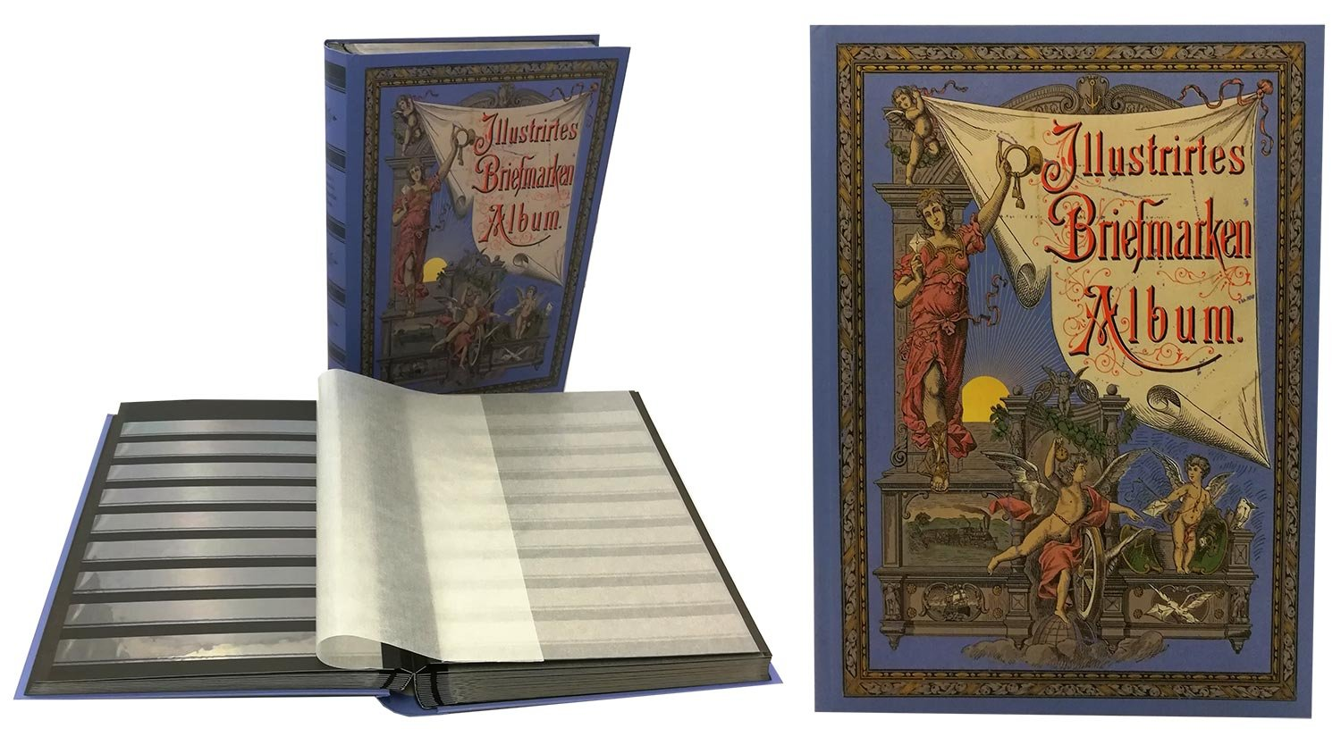 Stamp Collector's Album with 60 Black Refill Sheets Heritage Design II