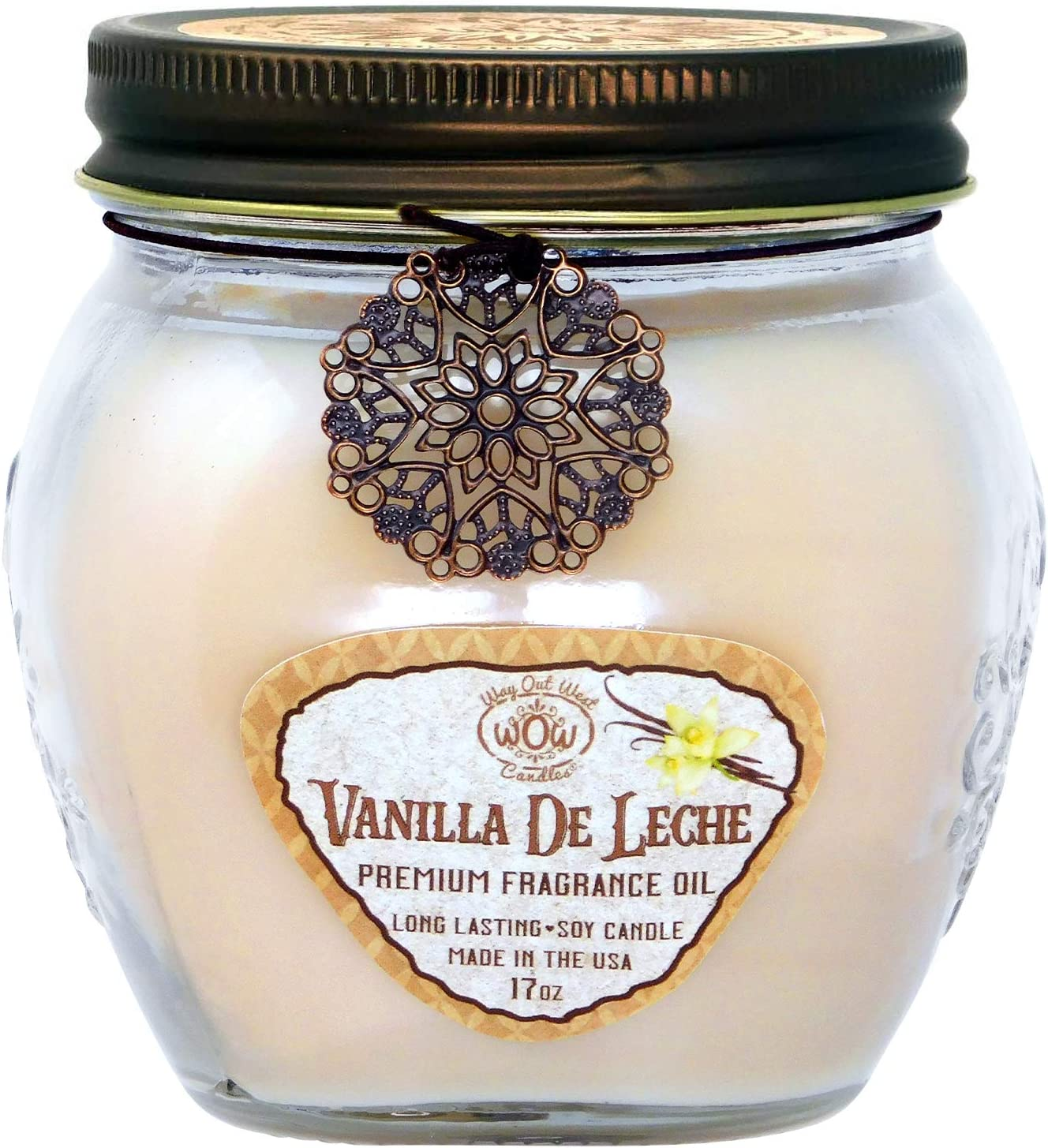 Way Out West Jar Candle with Vanilla de Leche, a Creamy Spiced Vanilla- Large 17 oz Jar Candle- Fragrant, Long Lasting, Soy Wax Blend - A Favorite Gift to Make a House a Home Sweet Home