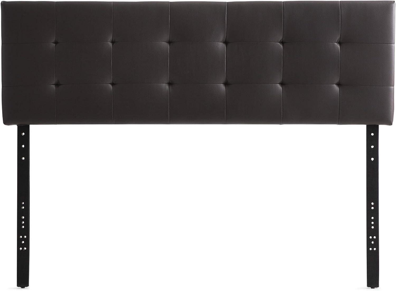 Everlane Home Hawthorne Faux Leather Headboard Platform Twin//Twin XL Brown