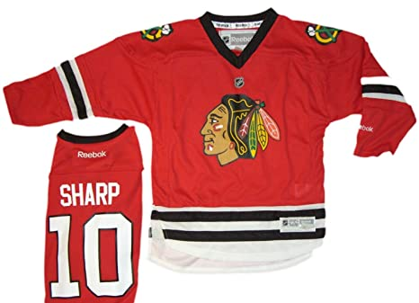 Amazon.com   Chicago Blackhawks  10 Patrick Sharp Jersey Reebok NHL ... db9d0611d