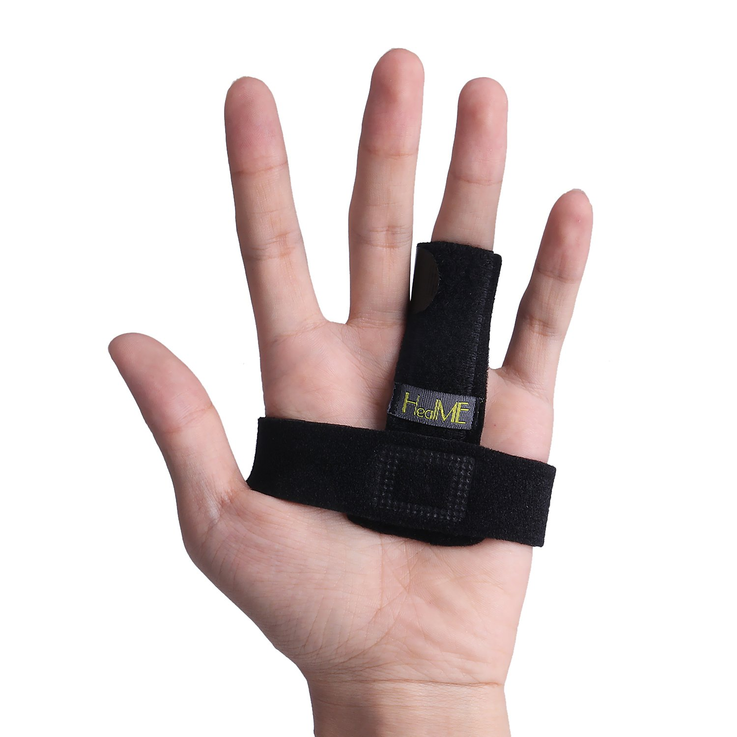 Trigger Finger Splint Brace for Finger Locking, Popping, Bending, Stiffness & Stenosing Tenosynovitis Hands - Adjustable Full Finger Splints, Middle Finger Support - Tendon Release & Pain Relief by HealME