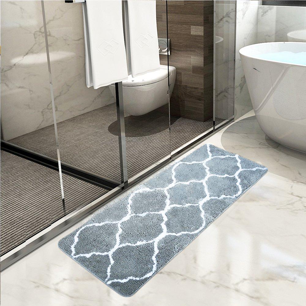 Lonior Bathroom Mats Extra Long Bath Mat Rug Super Absorbent Non ...