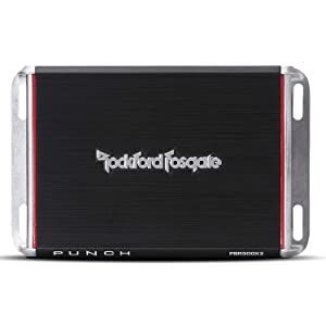 Rockford Fosgate PBR300X2 Punch 300 Watt 2 Channel Boosted Rail Amplifier