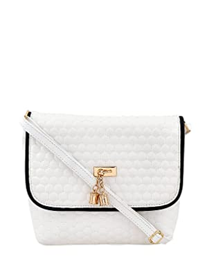 Blizzard PU Leather Spacious Women's Sling Bag  White
